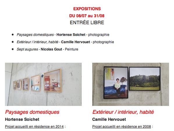"""Exposition """"Paysages domestiques"""" à la Métive"""